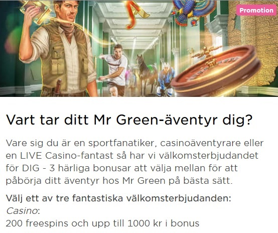 Ta del av kampanjer mest regelbundet på Mr Green!
