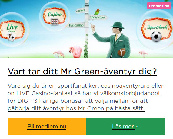 Vilket casino - Mr Green såklart!