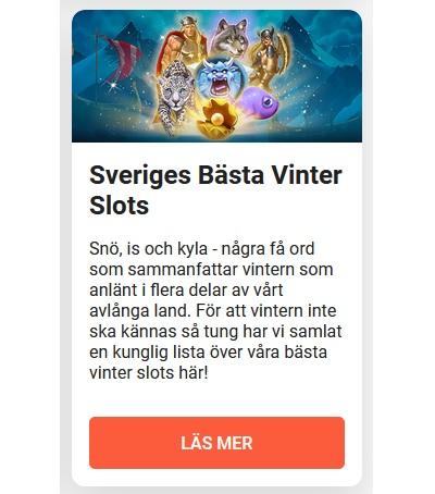 LeoVegas är ett mysigt vintercasino!